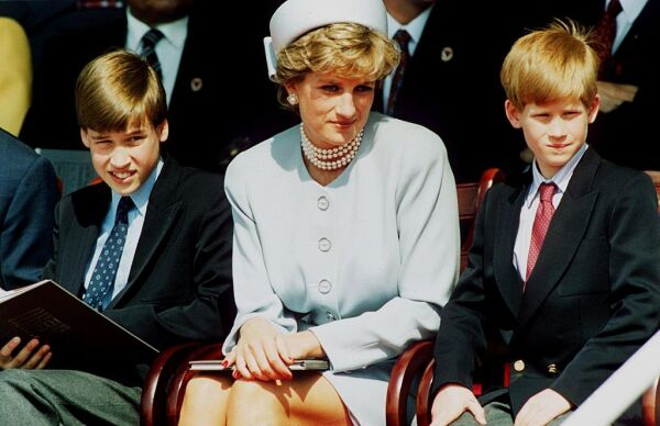 Príncipe William, Lady Di y el príncipe Harry