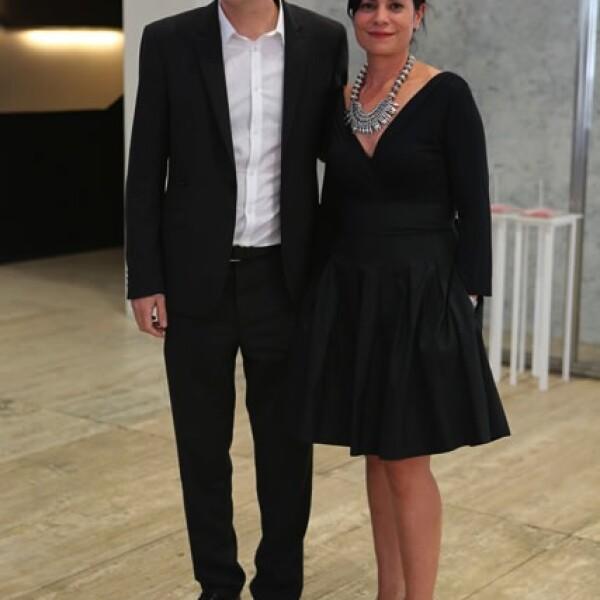 Patrick Charpenel y Gabriela Castillo.