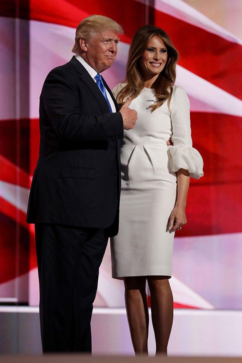 La esposa de Donald Trump fue acusada de robar un discurso de Michelle Obama en 2008.