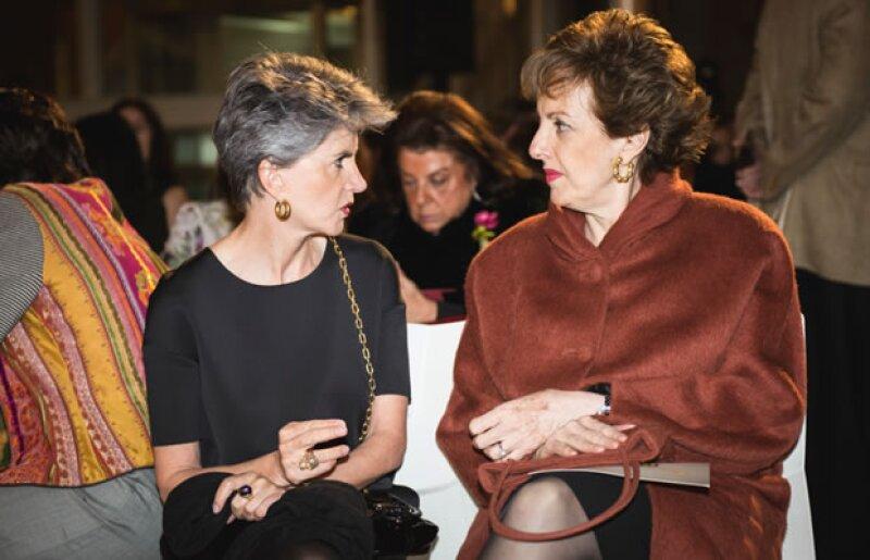 Patricia Ortiz Monasterio y Roberta Lajous, emabajadora de México en España.