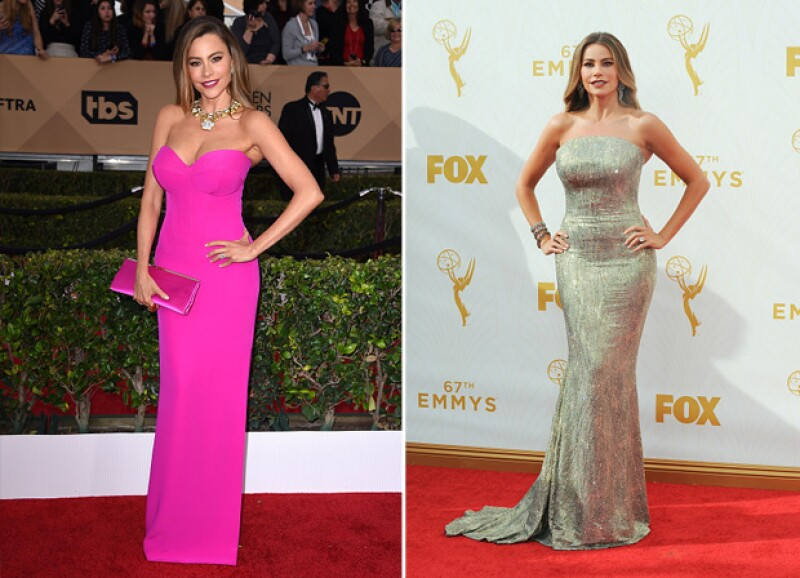 Sofía con los últimos dos looks de red carpet: en los Screen Actors Guild Awards.