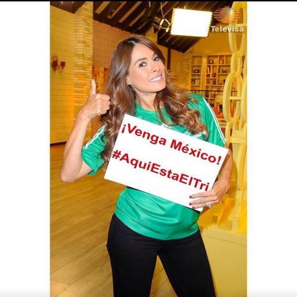 Galilea Montijo compartió esta imagen y mandó buenos deseos al equipo mexicano.