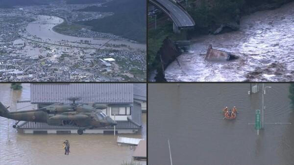 Japón enfrenta más lluvias en medio de la búsqueda de sobrevivientes por tifón