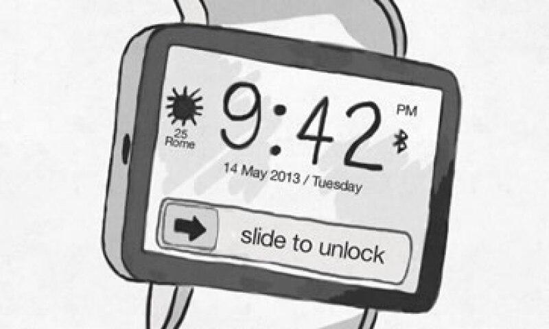Un concepto del iWatch, el reloj inteligente de Apple. (Foto: Tomada de CNNMoney.com)