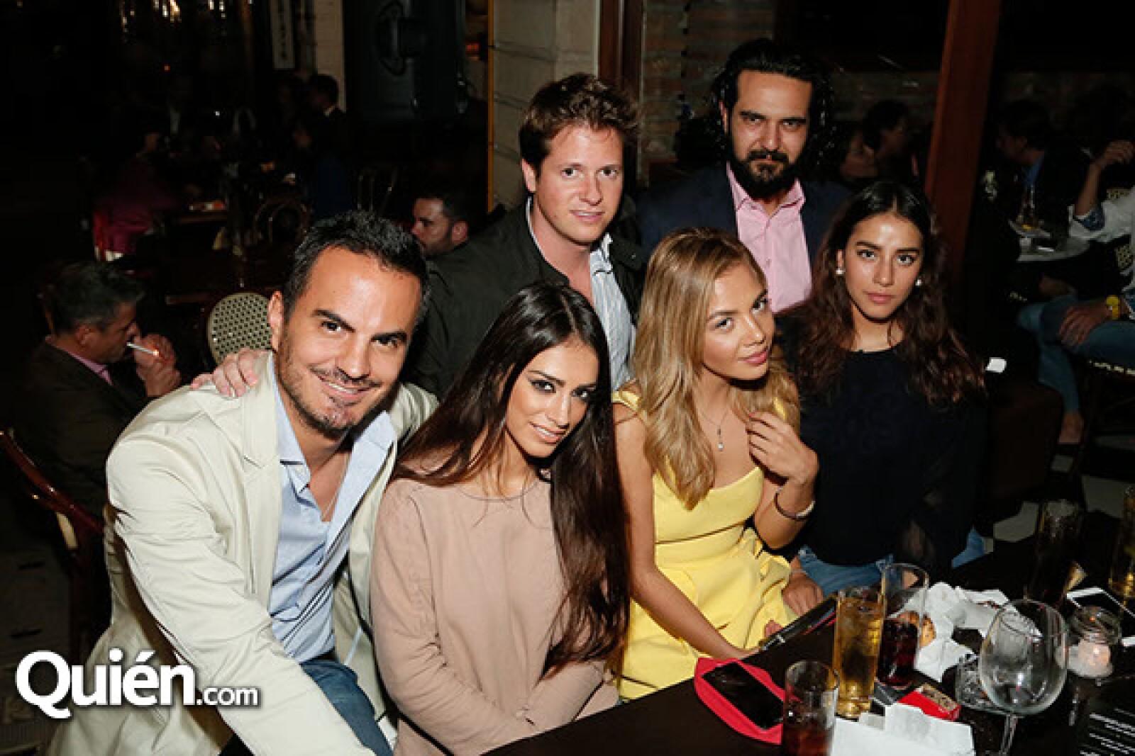 Vieri Figallo, Félix Ribott, Paris Shaadi, Belinda Molina, Lia Alcaráz y Dafne Molina