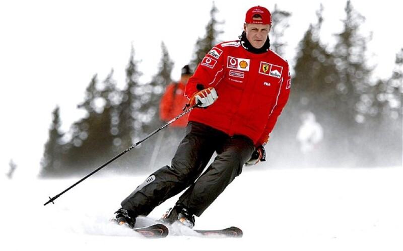 Michael Schumacher esquiaba profesionalmente desde hace varios años.