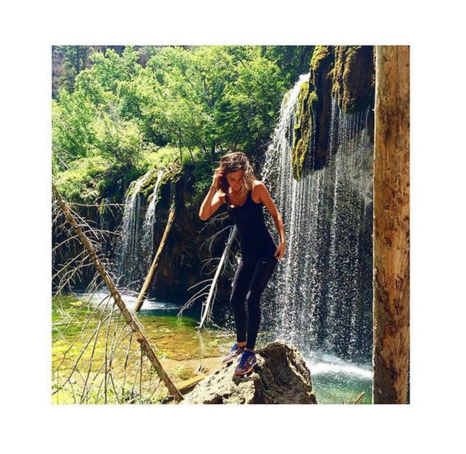 Karla Laveaga disfrutando los hermosos paisajes de Vail