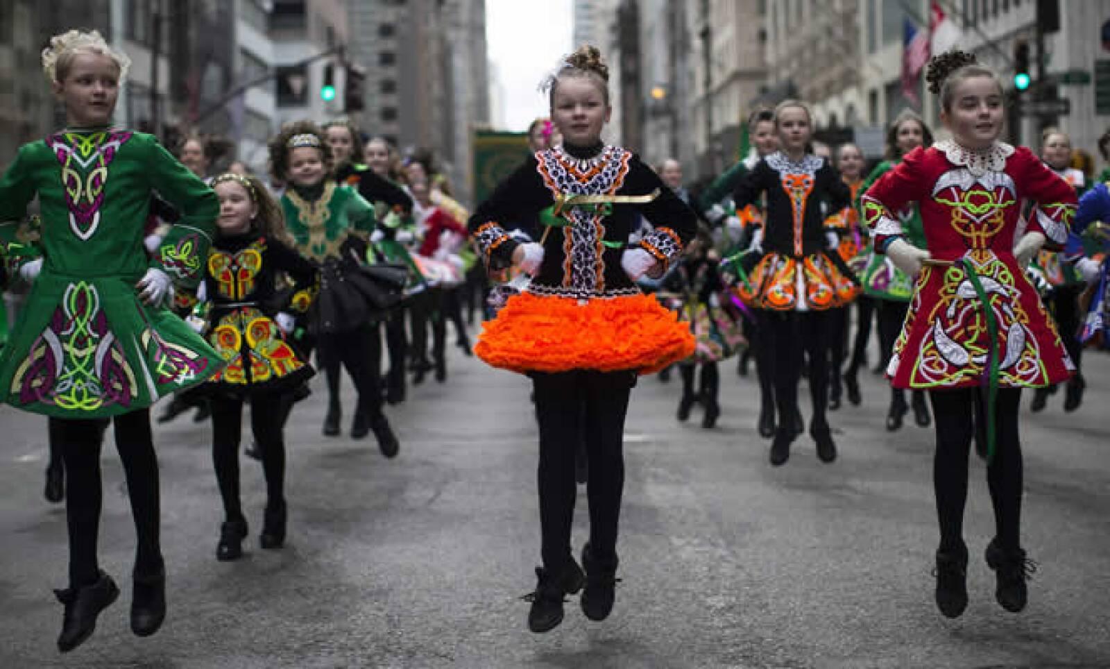 Niños participaron en el desfile de la Quintana Avenida, en Manhattan, Nueva York.
