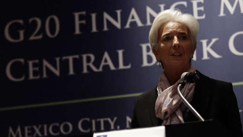 Estados Unidos y Europa son claves en la recuperación mundial, dijo Christine Lagarde, directora del FMI, durante la reunión.