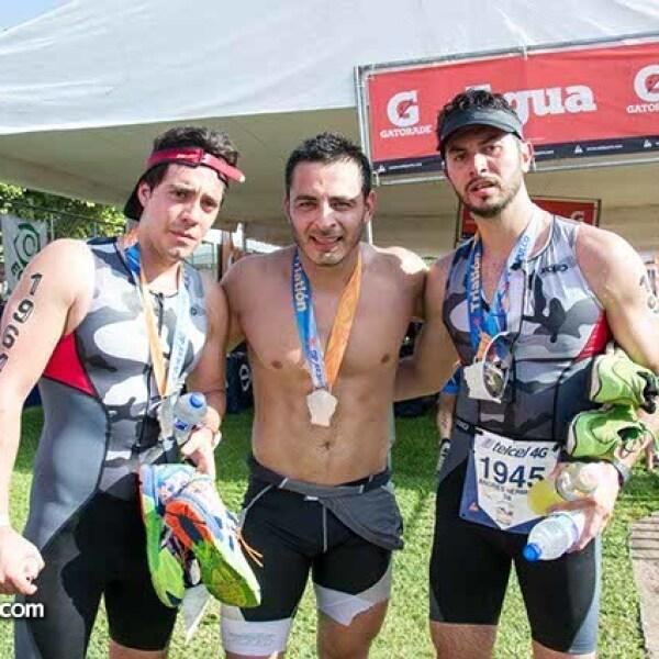 Andrei Lavin, Antonio Leivas y Andrés Aguilar