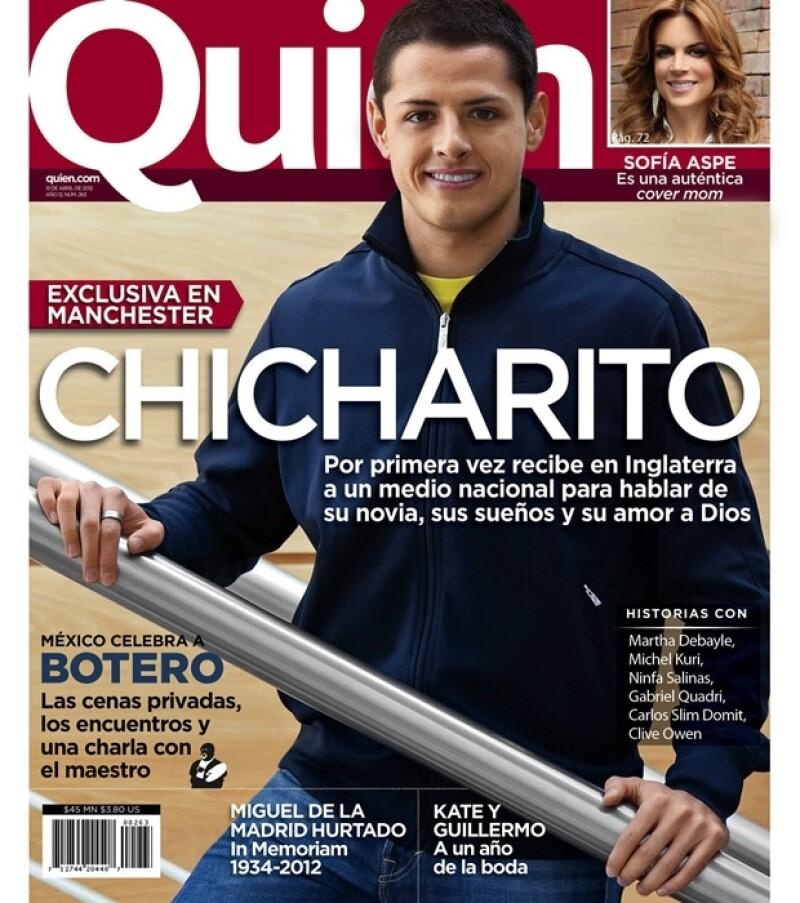La revista Quién platicó en exclusiva desde Manchester con el futbolista mexicano, quien, entre otras cosas, habló de su novia Lety Sahagún.
