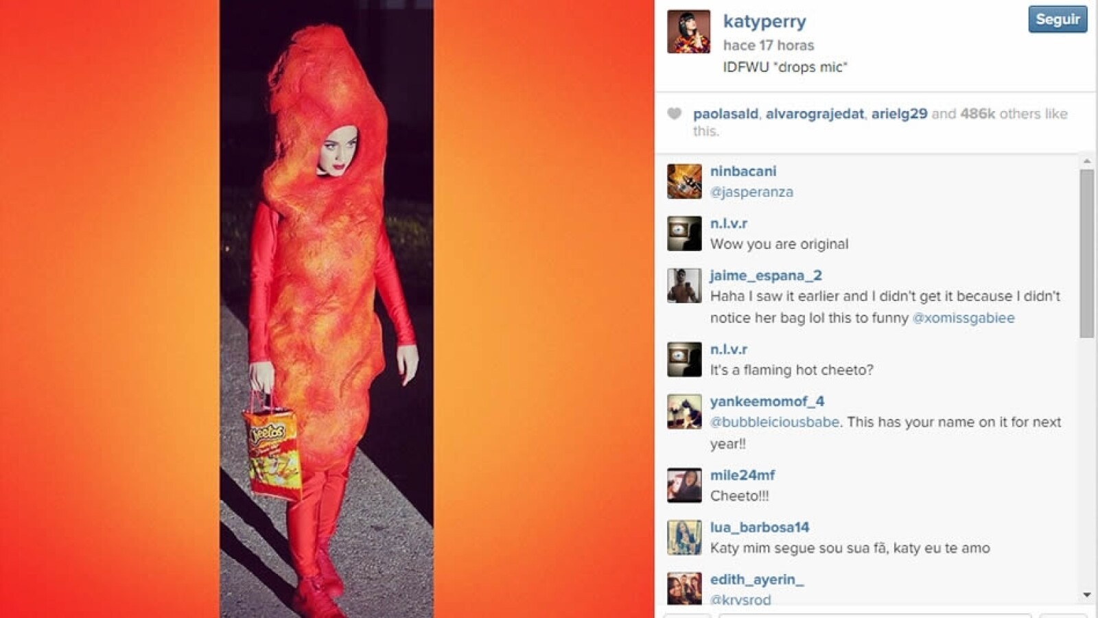 Katty Perry cheto Halloween