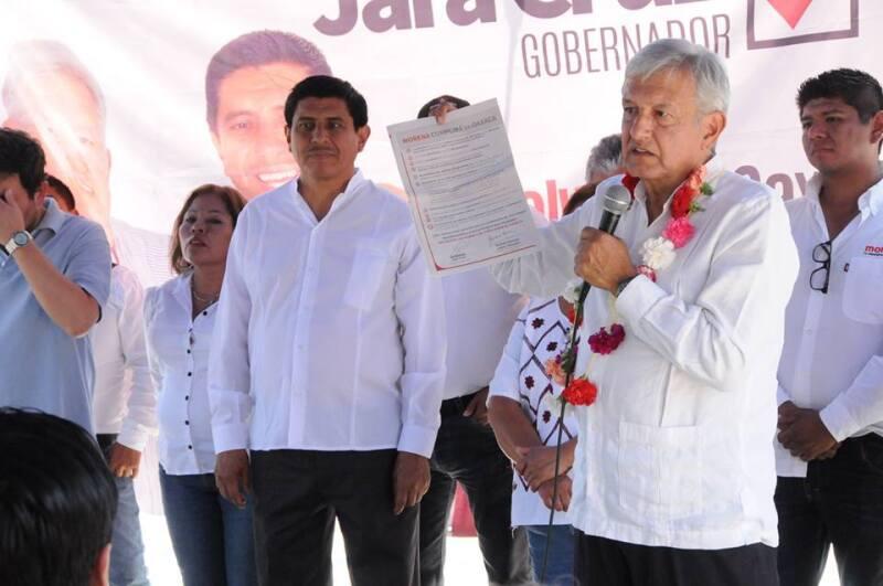 El líder de Morena se ha convertido en el coordinador de campaña de Salvador Jara por la buena relación que existe entre ambos políticos. (Foto: Facebook/ Salvador Jara)
