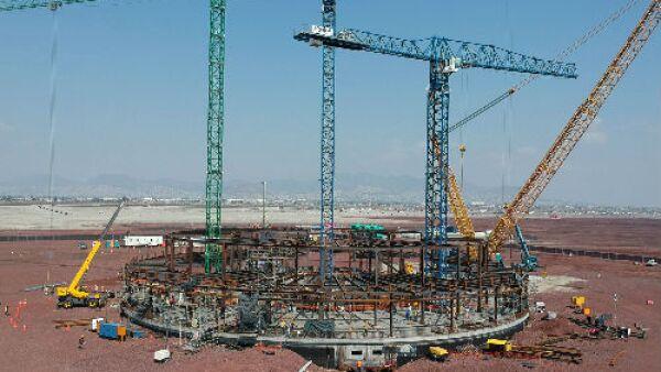construcci�n del Nuevo Aeropuerto Internacional de M�xico
