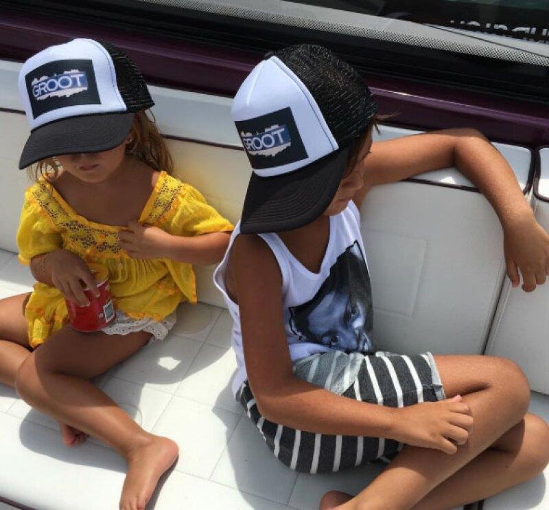 Mason y Penelope también acompañaron a su mamá en estas vacaciones.