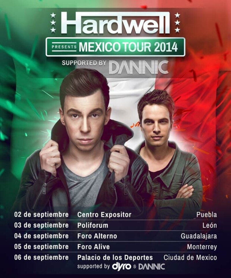 El Dj y productor neerlandés estará en México en septiembre de este año, como parte de su tour internacional.