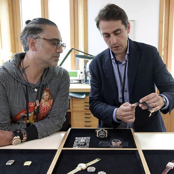 Alejandro viajó a Basilea, Suiza para la Feria de Arte Contemporáneo más influyente del mundo, Art Basel, durante su inauguración.