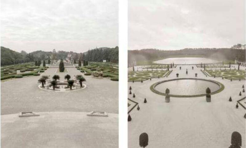 Izquierda: Versalles en Tianducheng/Derecha: Versalles.