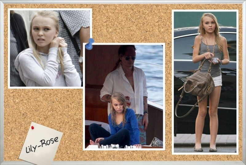 Lily es muy parecida a su papá, Johnny Depp, ahora falta saber si también hará cine.
