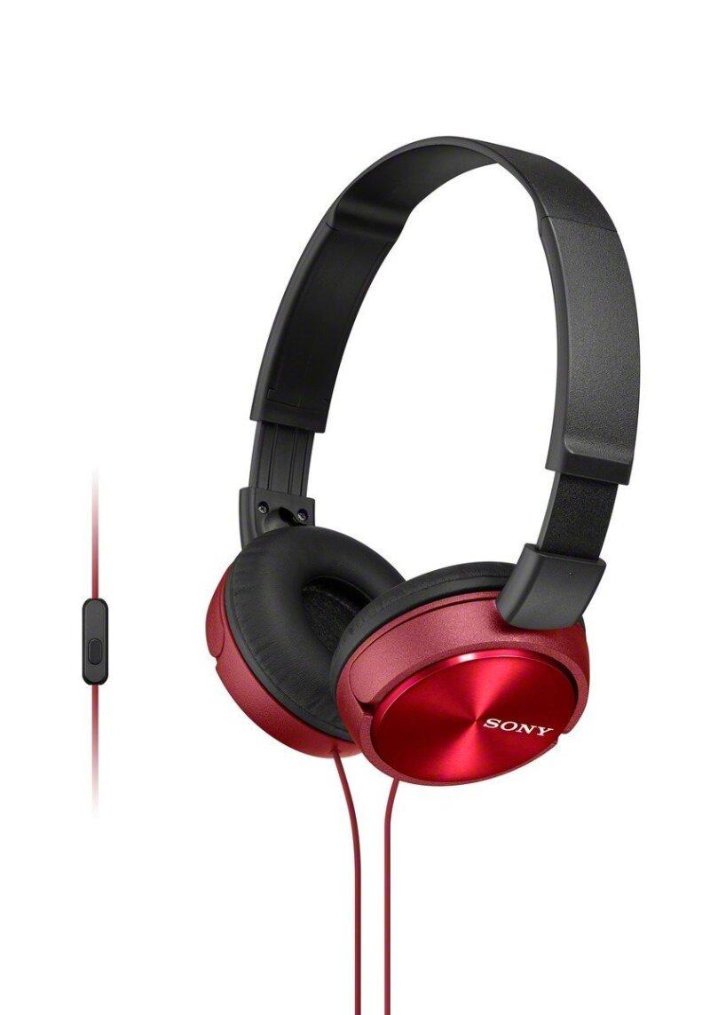 Sony MDRZX310APRCUC Audífonos de Diadema Plegables y Giratorios, color Rojo