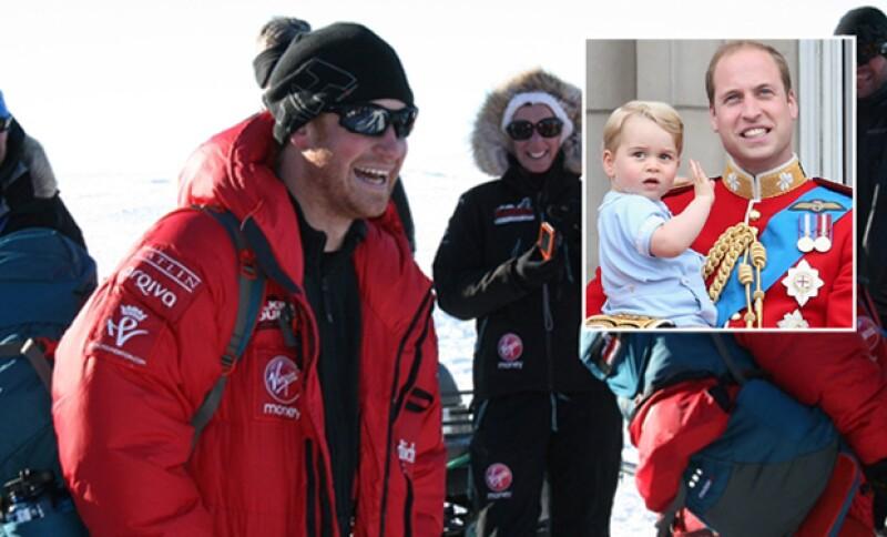 Durante su viaje por el Polo Sur, Harry reveló que le hacía bien alejarse de baby George, de cuyo llanto estaba harto.