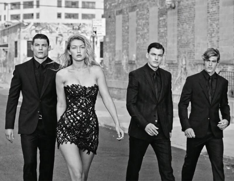 Gigi Hadid protagoniza, junto con hombres súper hot, el fashion film de Bruce Weber.