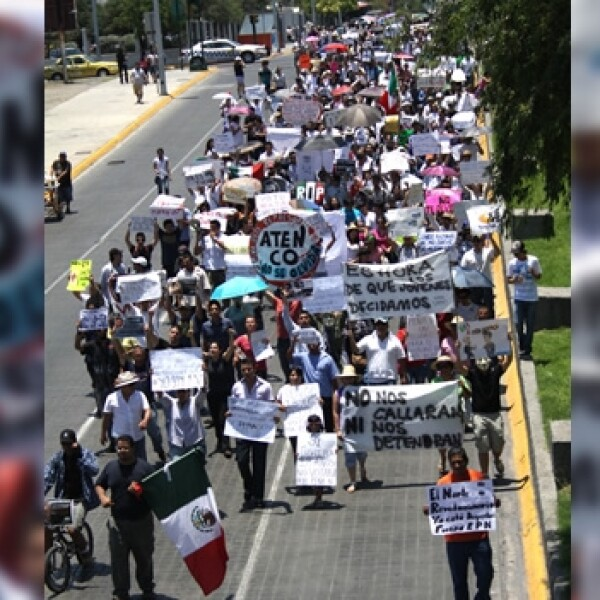 marcha anti peña en monterrey