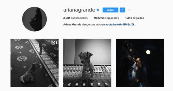 Instagram Ariana grande