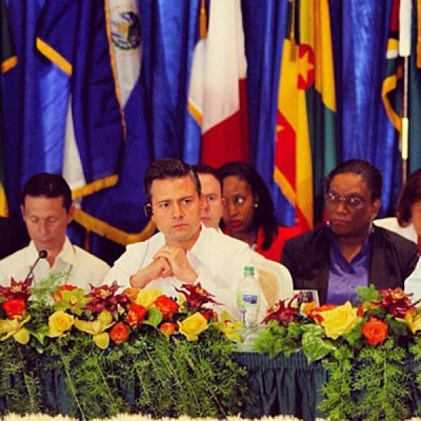 El 25 de abril, Peña Nieto viajó a Puerto Príncipe para participar en la V Cumbre de la Asociación de Estados del Caribe y para reunirse con el mandatario Michel Martelly.