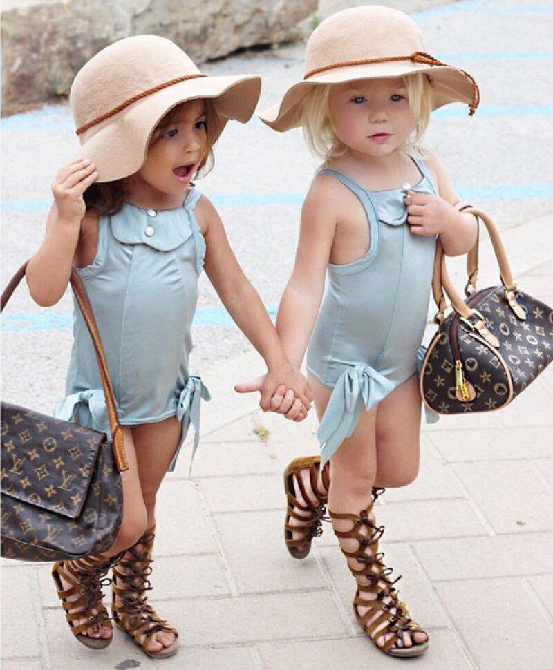 Estas pequeñitas han incluso llegado a ser comparadas con Kendall y Gigi por su increíble amistad y fotografías juntas.