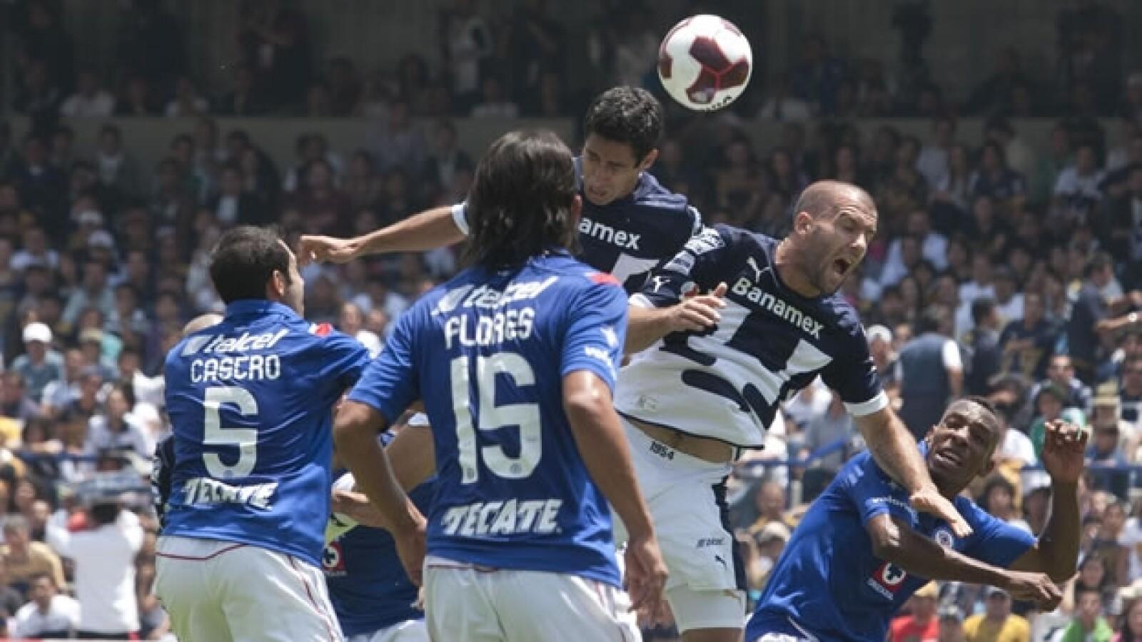 pumas contra cruz azul apertura de la jornada 6 2012