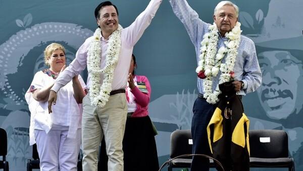 Andrés Manuel López Obrador de gira en Veracruz