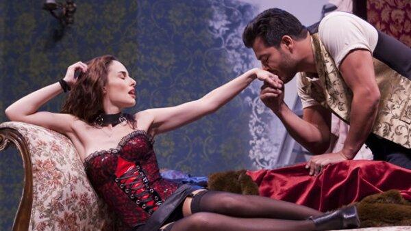 Ana Serradilla y Andrés Palacios durante la obra.
