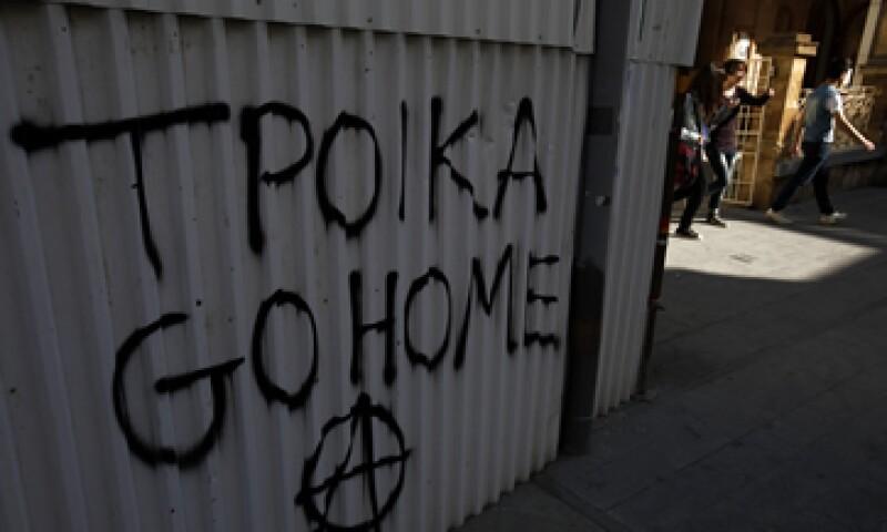 Queda en duda un rescate internacional al atribulado miembro de la zona euro. (Foto: AP)
