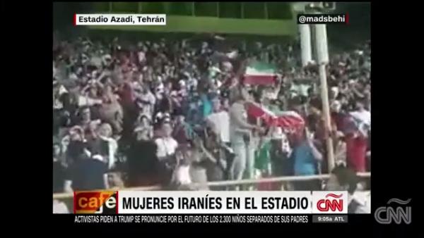 Estas mujeres iraníes entran por primera vez a un estadio de futbol