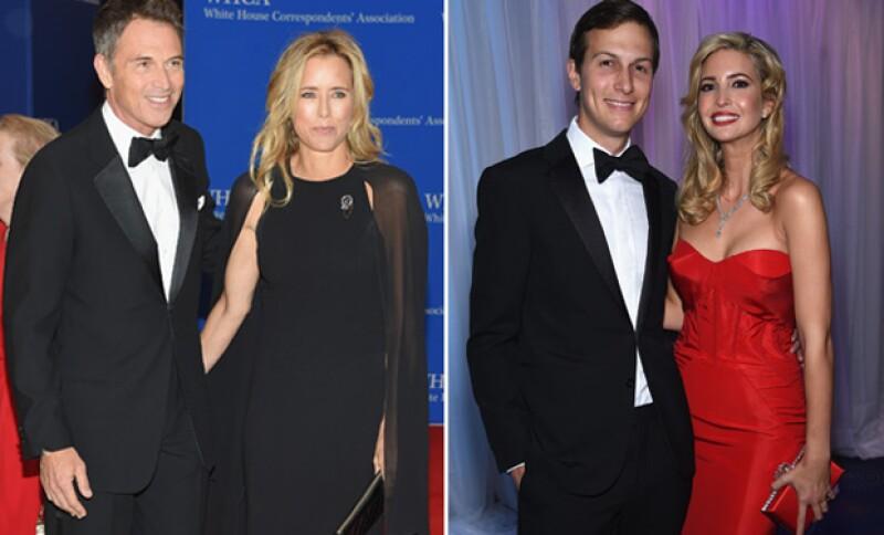 Ivanka Trump, su esposo, Téa Leoni y su nueva pareja, con quien hizo su debut en la red carpet.