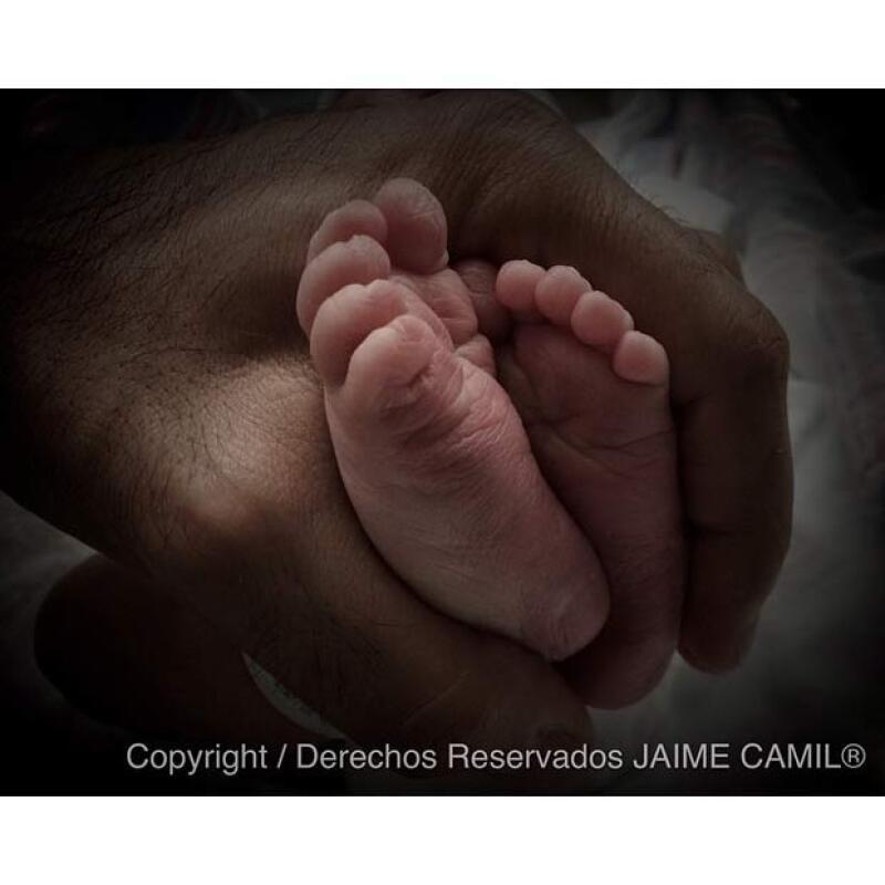 Con esta imagen Jaime le dio la bienvenida a su segundo hijo.