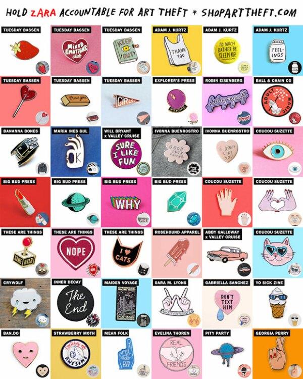El sitio Shopartheft.com muestra las ideas `robadas` por Inditex.