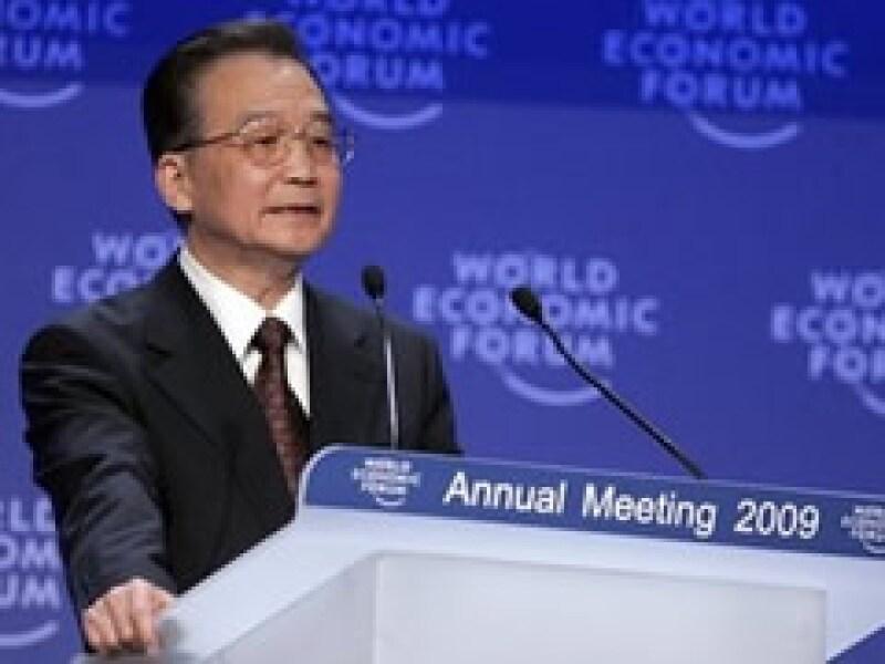 El premier chino, Wen Jiabao, fue el encargado de abrir los foros de debate en Davos. (Foto: AP)