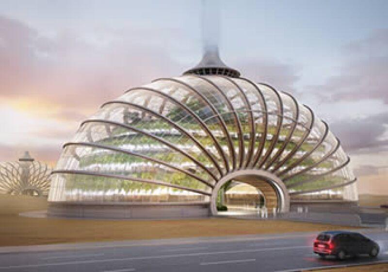 El domo de 2,400 metros cuadrados sería totalmente autosustentable. (Foto: Cortesía WAF)