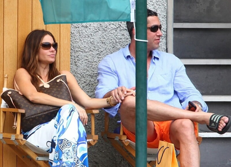 Aquí Nick y Sofía en sus vacaciones a Portofino, Italia.