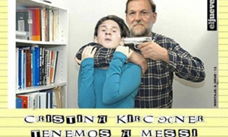La imagen de Mariano Rajoy y Lionel Messi des de las más populares en las redes sociales. (Foto: Tomada de Twitter)