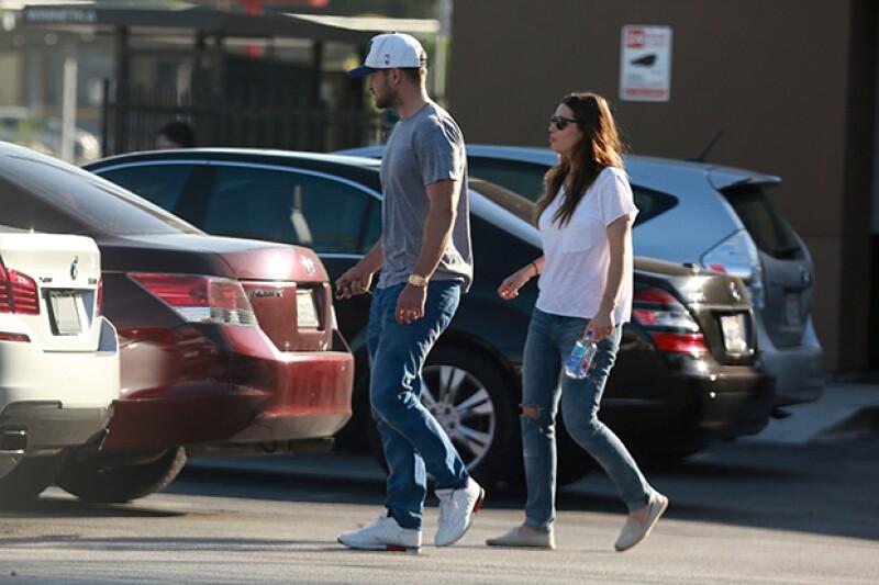 Esta es la primera vez que la pareja de actores fue captada tras tener a su hijo en abril de este año.