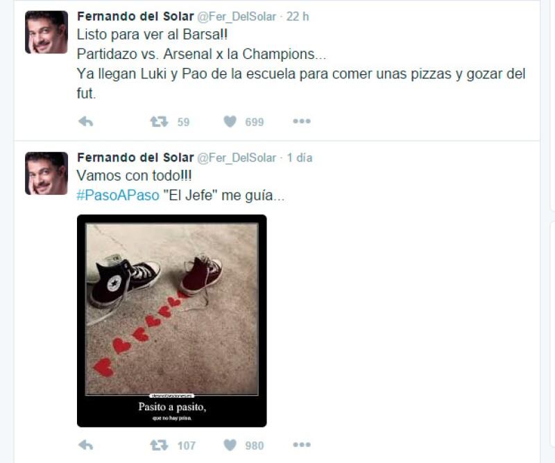 Estos han sido algunos de los tuits con los que Fer se ha mantenido activo en sus redes sociales.
