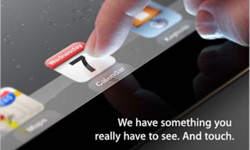 Apple anunció mediante una imagen la presentación de una nueva iPad. (Foto: Imagen tomada de Apple)