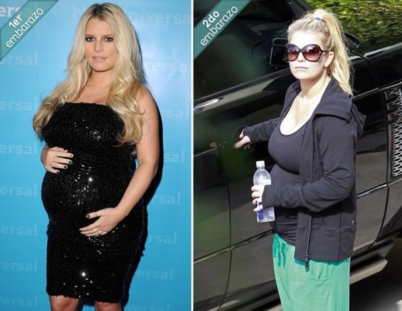 La cantante fue vista en mucho mejores condiciones a sus -aproximadamente- cuatro meses de gestación, que durante la misma etapa de su embarazo anterior.