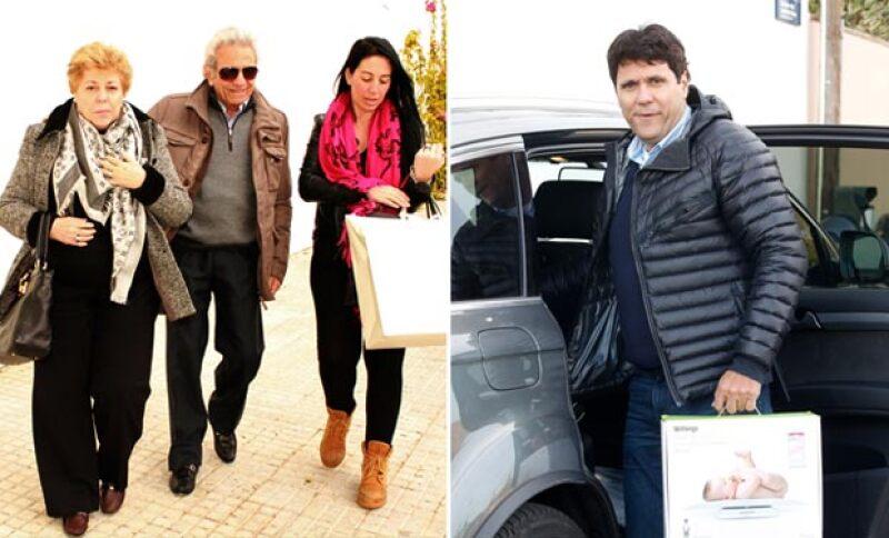 Después de salir del hospital la familia de Shakira se dirigió a su casa para recibirla.