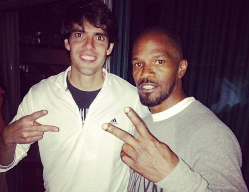 Kaká compartió su foto con el actor ganador del Oscar.