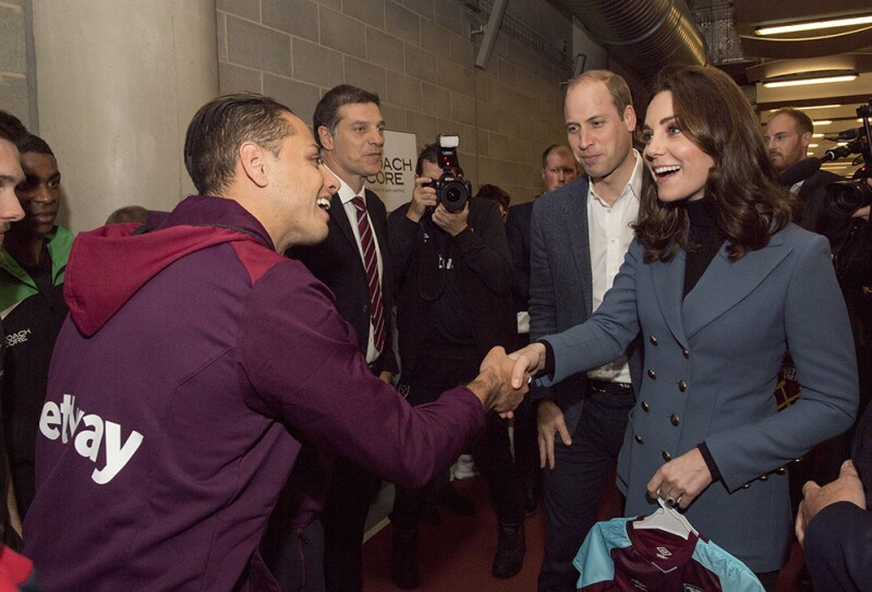 """""""Chicharito"""" Hernández y Kate Middleton"""