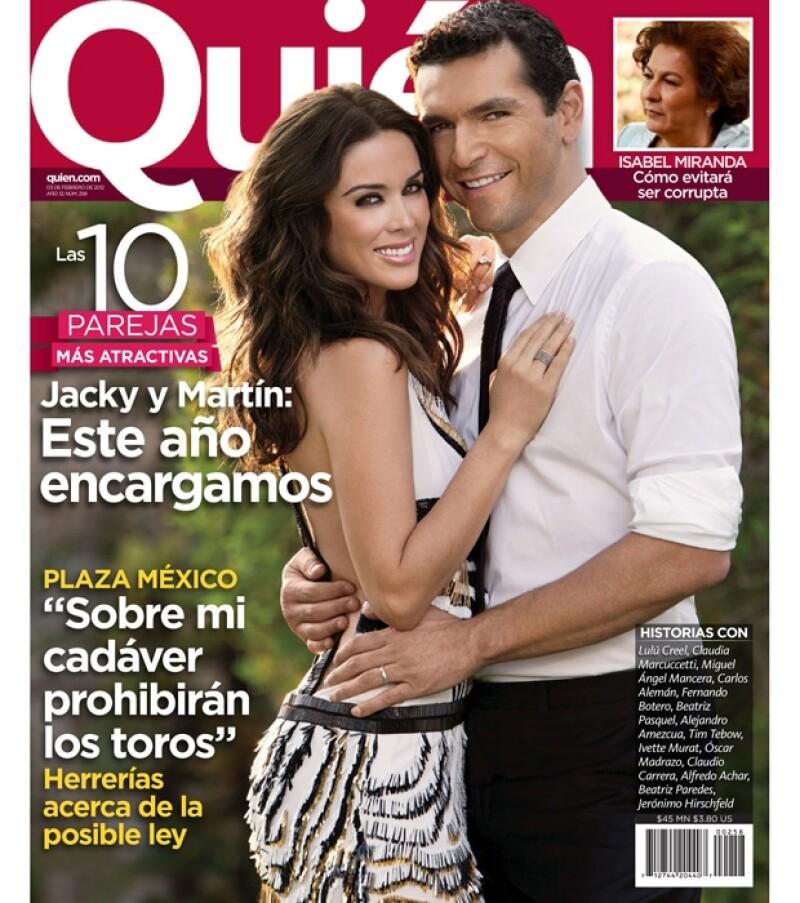La actriz y el empresario encabezan la lista de `Las 10 parejas más atractivas´ que anualmente publica la revista Quién, misma que ya está en circulación.